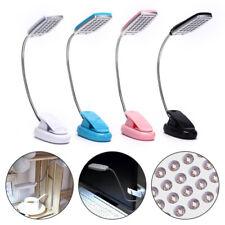 Flexible USB/Battery 28 LED Light Clip On Bed Table Desk Lamp Reading Light Lamp