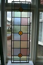 C16. Traditional leaded light stained glass window door panel made new your size