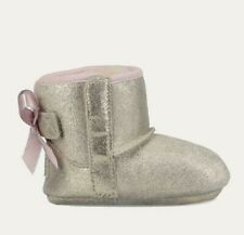 NIB UGG Bailey Bow Suede Infant Boots 0/1 2/3 4/5 Gold Pink