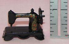 Dollhouse Miniature Antique Style Sewing Machine Black 1:12 Scale