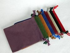 "Lot of 5 Small You Pick Color RPG Dice Bags 3 x 4"" Velveteen Cloth New DnD Pouch"