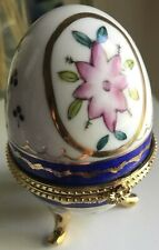Ceramic Plated Stand Egg Case Collectible Rare
