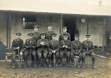 WWI ROYAL ARTILLERY - FIELD BATTERY OFFICERS - ORIGINAL PHOTO, CATTERICK, 1918