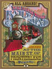"DISNEY POSTER - DISNEY WORLD RAILROAD 8.5"" x 11"""