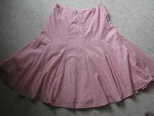 Gap red and white A line lined cotton skirt UK size 10 (US size 6)