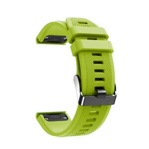 Laufbursche Zubehör Ersatz Armband für Garmin Fenix 6 Silikon grün Sportarmband