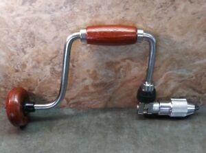 Vtg. Craftsman Hand Brace Ratcheting Drill No. 42404 BF JAPAN