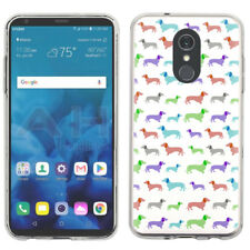 Slim-Fit TPU Protector Phone Case For LG Stylo 4 - Colorful Dachshund/Puppy