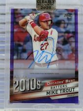 2020 Clearly Authentic Mike Trout Decades' Best Auto Autograph Purple #07/10 N40