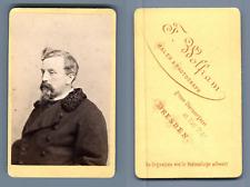 Wolfram, Dresden, homme à identifier Vintage albumen  Carte de Visite, CDV,  T