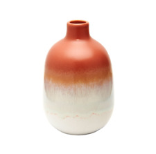 Mojave Retro Orange Bud Vase Stoneware Flower vase Pot Scandi Home Decor Decor