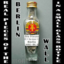 Real Pieces of the BERLIN WALL in a Bottle - Authentic Historic German Souvenir