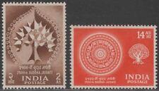 India 1956 Buddha Jayanti 2a, 14a UM Mint SG372-373 cat £12 MNH