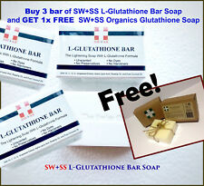 SWISS L-Glutathione Skin Lightening Soap Buy 3 +1 FREE SW+SS Organic Glutathione