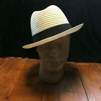 Steve Harvey White Straw Hat, Size Large. (A24)