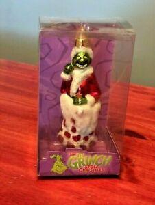 Grinch Christmas Ornament 2004 Glass