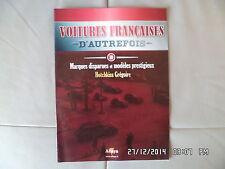 MAGAZINE VOITURES FRANCAISES D'AUTREFOIS N°10 HOTCHKISS GREGOIRE G84