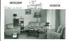 Publicité ancienne meubles et décoration Maple Paris 9ème 1959 issue de magazine