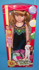 Uneeda Wispy Walker Doll 27 Inches Red Hair Black Dress W Fashion Collection