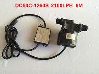 12V Micro Hot Water Circulation Pump Brushless 50C-1260S 6M 2100LPH, Submersible