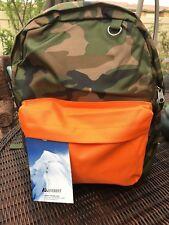 Everest Classic Woodland Camo Backpack, Camouflage & Orange 16.5 x 13 x 6.5