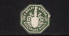 42406/ Siegelmarke - F. Wolff & Sohn - Karlsruhe Baden