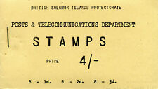 Solomon Islands 1959 QEII Booklets 4s booklet (stapled left) superb MNH. SG SB1