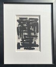 Pierre Soulages -Réalisé en 1957- Rare Pochoir Jacomet -Editions Berggruen Paris