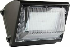 Outdoor Commercial Lighting 80W LED Wall Pack with 10400 Dusk-to-dawn Photocell