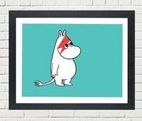 Moomin Troll As David Bowie Inspired A3 Art Print