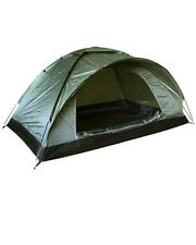 RANGER 2 MAN OLIVE GREEN COMPACT LIGHT WEIGHT SINGLE SKIN DOME TENT FESTIVAL