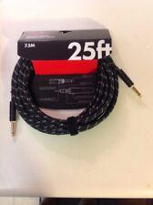 New Fender 25ft Black Tweed Guitar Cable