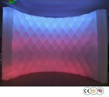 Inflatable LED Wall Photo Booth Backdrop For Party Event Oxford Cloth Background