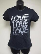 NEW Love Love Love Womens M Medium Black Shirt by Anvil