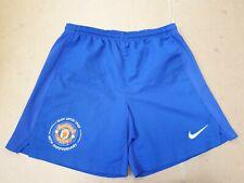 DD478 BOYS NIKE MAN UNITED BLUE FOOTBALL SHORTS UK M AGE 10-12  YEARS W26