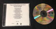 HOWARD SHORE 'LOTR: RETURN OF THE KING OST' 2003 PROMO CD
