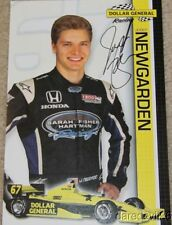 2012 Josef Newgarden signed Dollar General Honda Indy 500 Indy Car postcard