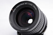 Pentax 67 75mm 4.5 SMC Wide Angle Lens Excellent ++ Condition from Japan