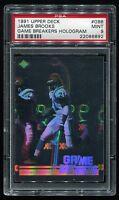 1991 Upper Deck Game Breakers Hologram #GB8 James Brooks PSA 9 *Bengals*