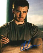 CHRIS EVANS SHIRTLESS RARE SIGNED 8X10 PP PHOTO 122