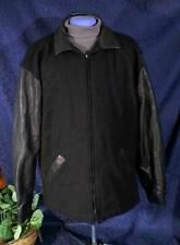 Black Leather & Wool SICHEL Crew Apparel GOLD CIRCLE FILMS Varsity Jacket L