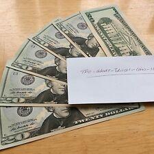 One Single Random $20 Dollar Bill Uncirculated Crisp Condition Twenty Bucks