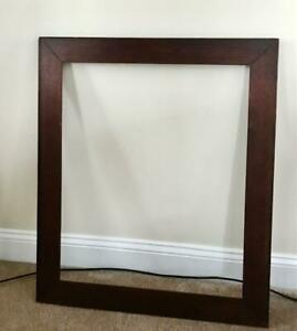 """Large Early 1900's Antique Oak Frame 27 5/8"""" by 32 1/2"""" by 3"""" wide"""