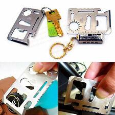 Multi-Purpose 11-in-1 Stainless Steel Survival Tool Emergency Pocket Card Opener