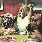 VTG Dogs Play Poker Cigar Framed Print Coolidge A BOLD BLUFF 14x11 Retro Kitsch