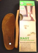 NEW NAOT ORTHOTIC cork replacement insoles 42/M9 footbed mens Scandinavian