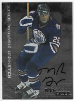 1999-00 IN THE GAME MILLENNIUM SIGNATURE SERIES MIKE GRIER AUTO #102 OILERS