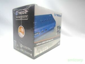 New TRENDnet 4 Port KVM Switch Kit (TK-407K) with cables Unused BT@