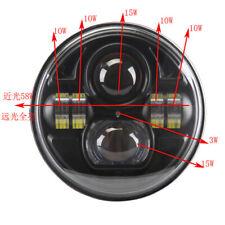 7'' LED Angle Eyes Headlamp with Parking Light For Jeep Wrangler JK TJ CJ Moto