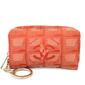 CHANEL CC Logo New Travel Line Cosmetic Pouch Bag /E1235